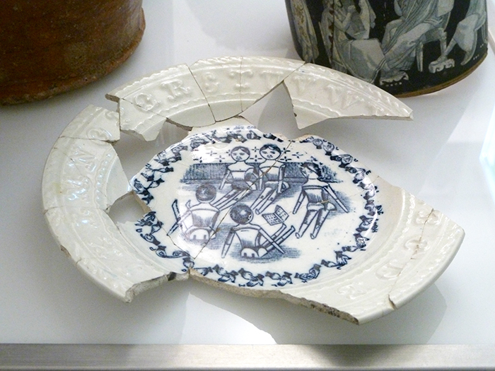 The British Sign Language plate on display at MAA