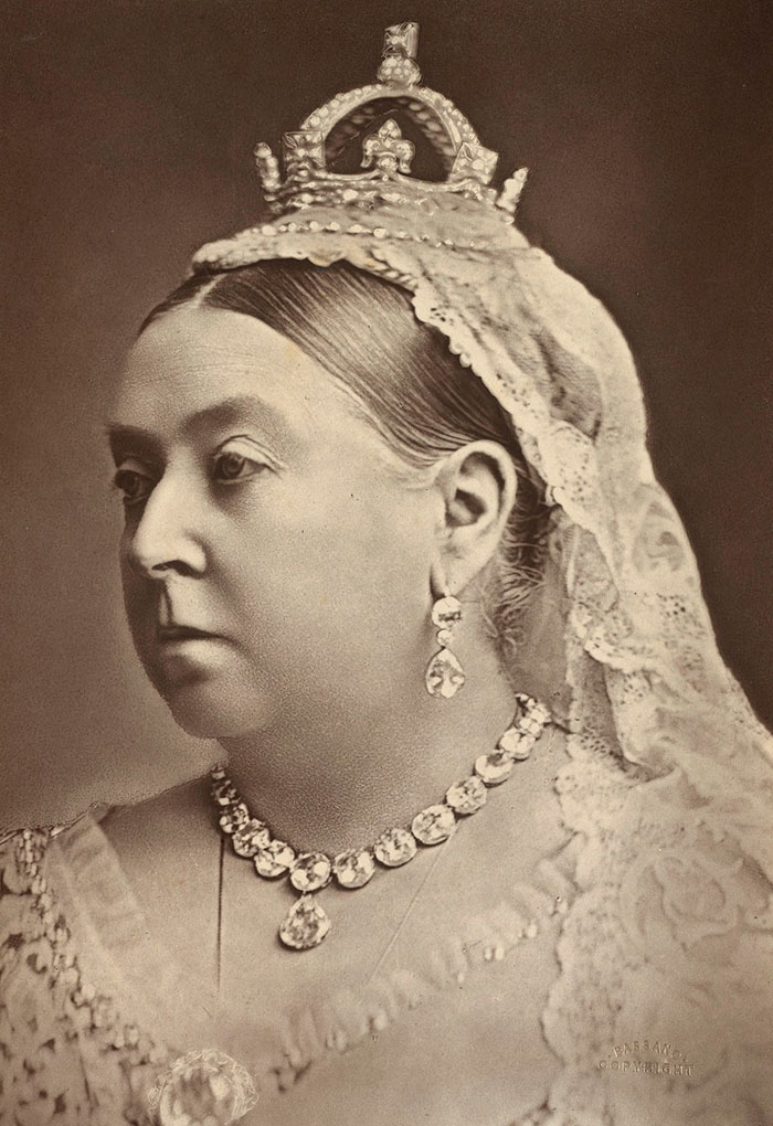Black and white photograph of Queen Victoria