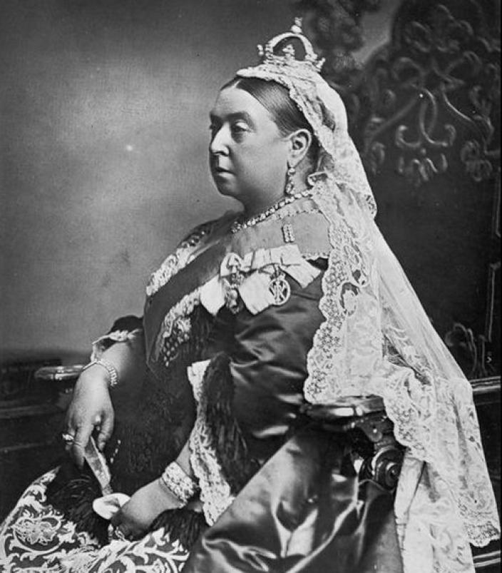 Black and white photo of Queen Victoria