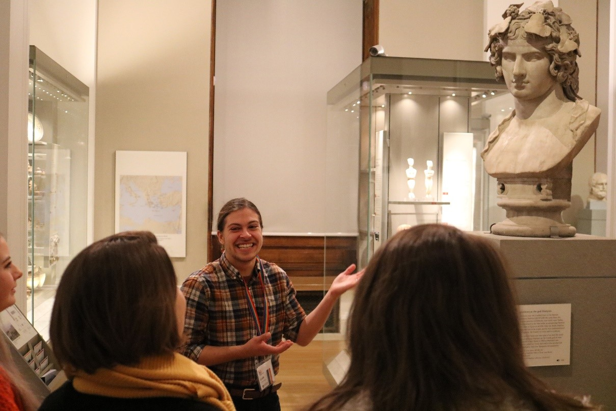 Tour guide in the Fitzwilliam Museum