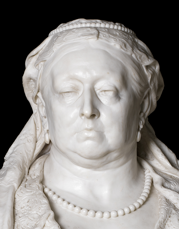 detail of Queen Victoria's face