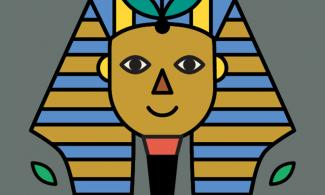 poster of cartoon pharaoh