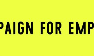 Campaign for Empathy written in black on a bright yellow background