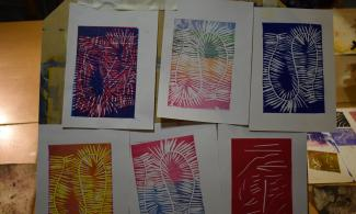 Prints created by a young person for their Arts Award