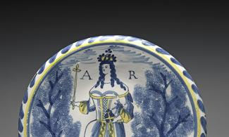 Dish depicting Queen Anne