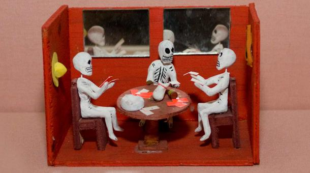 Day of the Dead artifact including Gambling Skeletons