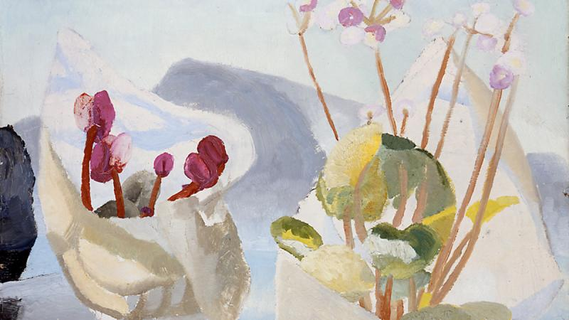 Winifred Nicholson, Cyclamen and Primula, 1923