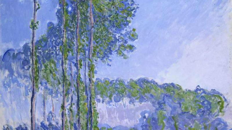 Les Peupliers by Claude Monet